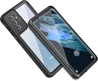 for Samsung Galaxy S21 Ultra Waterproof Case, Full Sealed Rugged Cover with Screen Protector & Clear Sound Snowproof Shock...