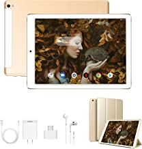 Tablet 10 Pulgadas 4G Full HD 3GB de RAM 32GB/128GB de ROM Android 9.0 Certificado por Google GMS Quad Core Tablet Batería de 8500mAh Dual SIM 8MP Cámara Tablet PC Netfilx WiFi Bluetooth GPS OTG(Oro)