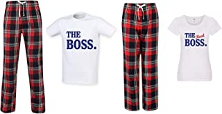 60 Second Makeover Limited The Boss The Real Boss Couples Matching Pyjama Tartan Set Couples Twinning Family