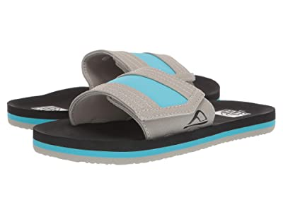 Reef Kids Ahi Slide (Little Kid/Big Kid) (Grey/Blue) Boys Shoes