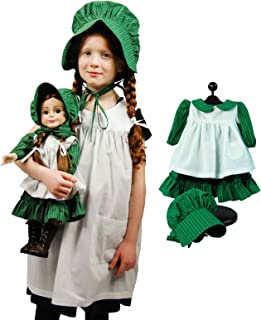 The Queen's Treasures Little House On The Prairie Child Size Apron & Bonnet with 3pc 18