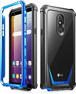 Poetic Guardian Series Designed for LG Stylo 5 /LG Stylo 5 Plus/LG Stylo 5V Case, Full-Body Hybrid Shockproof Bumper Cover with Built-in-Screen Protector, Blue/Clear