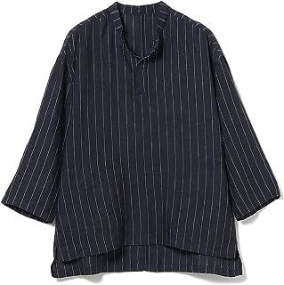 [ビームスライツ] シャツ / 7分袖シャツ ノビリアリネン プルオーバー バンドカラーシャツ メンズ
