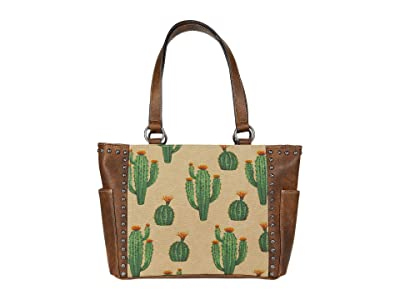 M&F Western Desert Tote (Brown/Cream/Cactus) Handbags