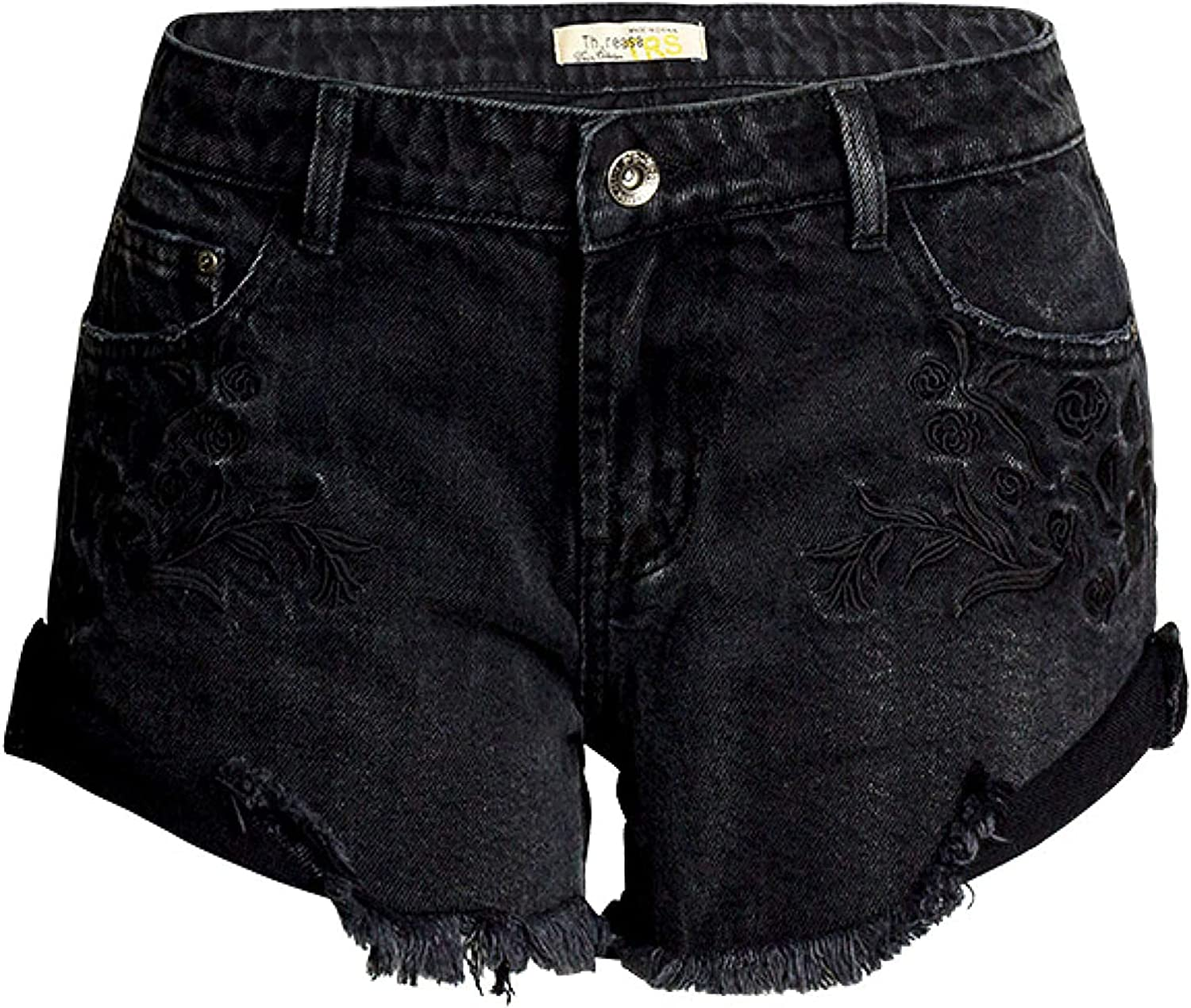Andrea Spence Women's Denim Shorts Fashion Trend Personality Embroidery Washed Streetwear