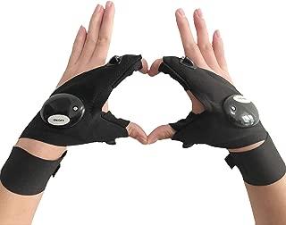 coroler cool fingerless led flashlight gloves