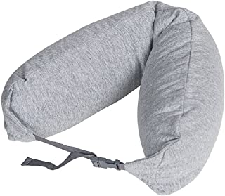 LBMUJI 【Counter genuine】 MUJINeck pillow neck pillow for airplane travel neck pillow for car Sofa pillow U-pillow (Specifications 16x67cm, Grinding gray)