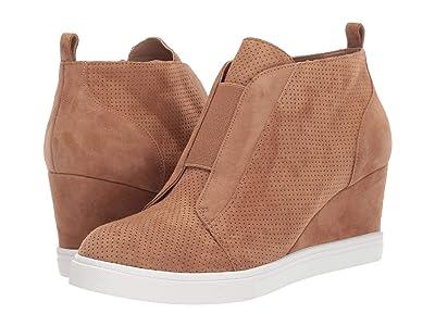 LINEA Paolo Felicia Wedge Sneaker (Tan Perf Suede) Women