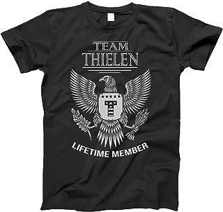 Team Thielen Lifetime Member Family Surname T-Shirt for Families with The Thielen Last Name