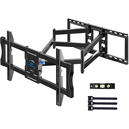 TV Wall Mount Bracket Full Motion Swivel Articulating for Most 50-90 inch LCD, OLED 4K Flat Curved TV with 29 Inch Long Extension Arm, Fits 24 Inch Studs Max VESA 800x400mm up to 154 lbs by Pipishell