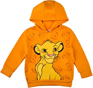 Disney Lion King Simba Pullover Hoodie for Boys and Girls, Kid's Hooded Sweater, Orange