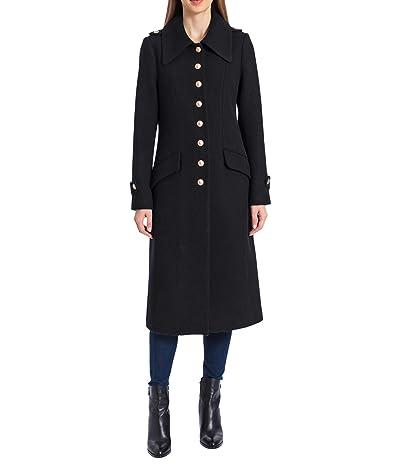 Avec Les Filles Wool Blend Military Coat (Black) Women
