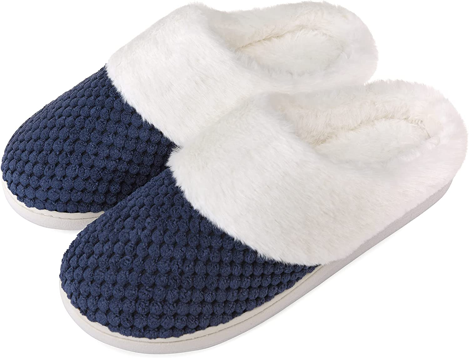 Women's Fuzzy excellence Translated Slippers Slip On House P Shoes Comfort Memory Foam