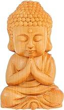 Generic Hand Carved Buddha Statue Small Cute Sitting Buddha Figurine Palm Size Praying Buddha Sculpture Religious Buddhist...