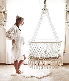 Hanging Crib in Macrame with 1 Handmade Mattress