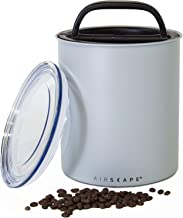 Airscape Coffee Storage Canister (2.5 lb Dry Beans) - Big Kilo Size Canister with Patented CO2 Releasing Airtight Lid Pushes Air Out to Preserve Food Freshness - Matte Finish Food Container - Ash