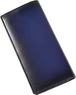 [ラファエロ] Raffaello 一流の革職人が作る スフマート製法で染色した メンズ二つ折り長財布