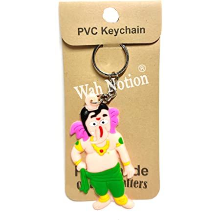 WAH NOTION® Rubber Keychain for Bike PVC Key Rings Lord Ganesha for Kids Birthday Party Return Gift 2021 Unique