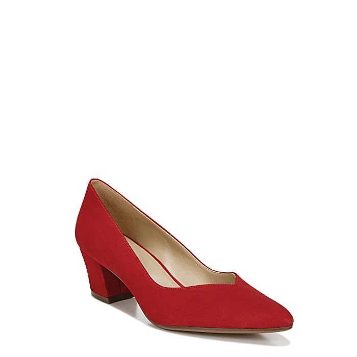 Vintage Heels, Retro Heels, Pumps, Shoes Naturalizer Mali Blaze Red Suede Womens Shoes $109.95 AT vintagedancer.com
