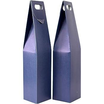 Duhalle 170 Estuches para Botella de Vino cartón Azul – Juego de 2: Amazon.es: Hogar