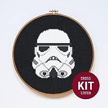 Stormtrooper Cross Stitch Kit by Stitchering