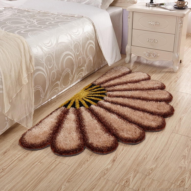 Aik@ Simple Creative Semicircular 3D Visual Effects Doormat,Area Rug Polyester Super Soft Absorbent Carpet Bedroom Bathroom Entrance Mat-I 80x150cm(31x59inch)
