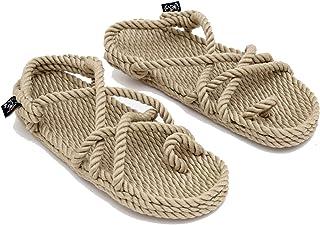 Sandales en corde Nomadics Toe Joe pour adulte Unisexe Camel