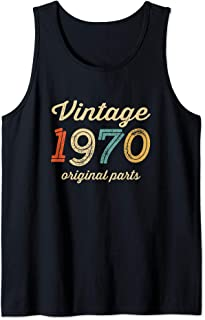 Vintage 1970 Original Parts Birthday Italic Light Tank Top