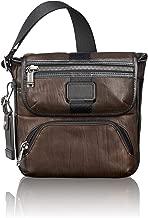 TUMI - Alpha Bravo Barton Leather Crossbody Bag - Satchel for Men and Women - Dark Brown