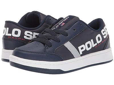 Polo Ralph Lauren Kids Belden (Little Kid) (Navy Tumbled/Nylon/Silver Reflective) Kids Shoes