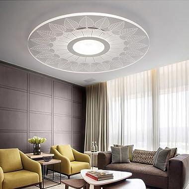 LED à télécommande, éclairage à dôme continu, lampe de plafond acrylique ronde ultra-mince, salon simple moderne, chandelier