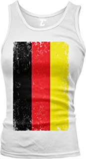 Distressed Germany Flag - Deutschland German Juniors Tank Top