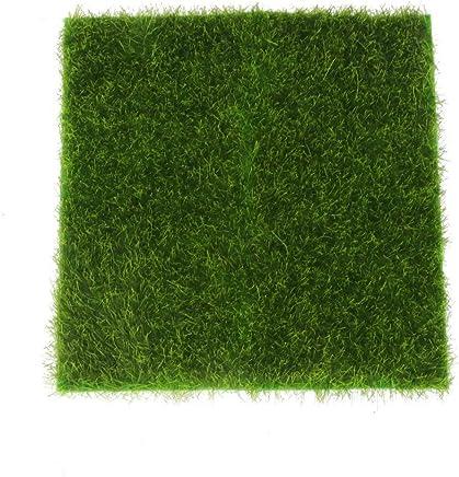 INDIADOR Micro Landscape Moss Ornament Turf Faux Lawn for Miniature Garden (Green)