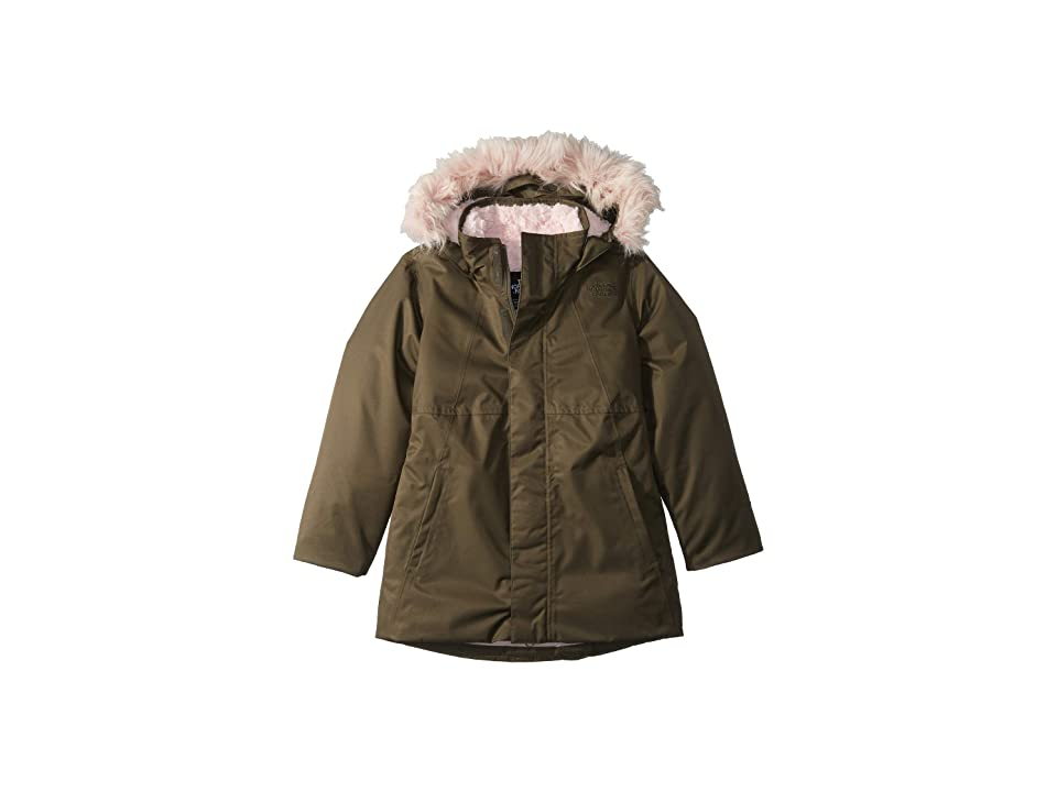 The North Face Kids Arctic Swirl Down Jacket (Little Kids/Big Kids) (New Taupe Green) Girl
