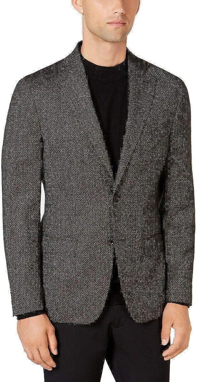 DKNY Mens Hudson Two Button Blazer Jacket, Brown