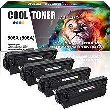 Cool Toner Compatible Toner Cartridge Replacement for HP 508X CF360X CF361X CF362X CF363X 508A CF360A for HP Color Laserjet Enterprise M553N M553DN M553X M552DN MFP M577Z M577dn M533 M577 Printer-4PK