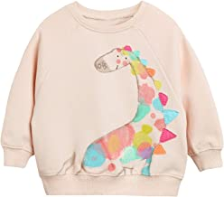 DHASIUE Baby Girls Unicorn Sweatshirt Jumper T-Shirt Cute Long Sleeved Tops Casual Cotton Tee Shirts Kids Toddler Clothes Age 1 2 3 4 5 6 7 Years