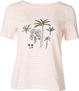 Coral Bay Petite Sweet Palms Short Sleeve Top