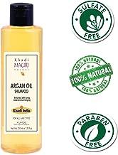 Khadi Mauri Herbal Argan Oil Shampoo - SLES & PARABEN FREE - Boosts Hair Growth & Thickness - Enriched with Amla, Bhringraj & Aloe Vera - 210 ml