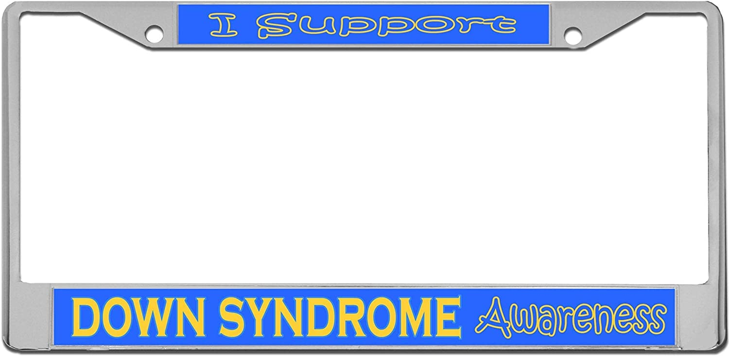FLLURM Down Syndrome Awareness License Plate OFFicial At the price Frame Inches 6 X 12