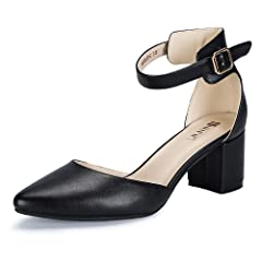 31132c6b644c IDIFU Women s IN2 Pedazo-C Mid Chunky Heels Closed Pointed To .