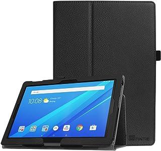 FINTIE Folio Funda para Lenovo Tab4 10 / Tab4 10 Plus - Carcasa de Cuero Sintético de Calidad con Función de Soporte y Auto-Reposo/Activación para 10,1 Pulgadas, Negro