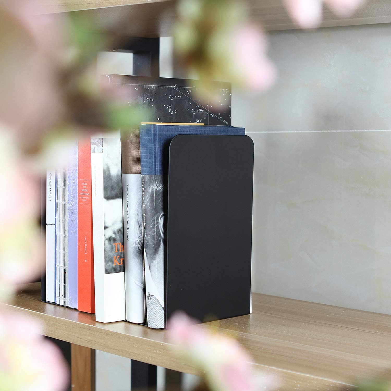 2 Pcs Larger Modern Bookends Black 8 Sale SALE% OFF Meta Abuff Decorative Save money Inch