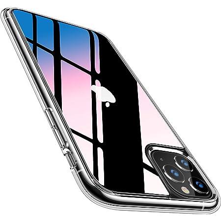 TORRAS iPhone 11 Pro用 ケース 9Hガラス背面 TPUバンパー 日本旭硝子製 滑り止め 黄変防止 耐衝撃 三層構造アイフォン 11 Pro用 5.8インチ ガラスカバー クリア Fancy Series