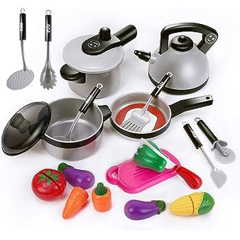 15pcs Children Kitchen Cooking Pretend Play Toy Kids Utensil Playsets Birth Gift