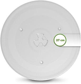 Assiette à micro-ondes ronde en verre de 27 cm comme Candy 49033573 - Plateau tournant de rechange pour micro-ondes 270 mm