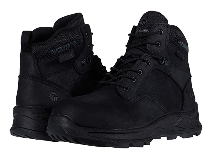 Wolverine  ShiftPLUS Work LX 6 Alloy-Toe Boot (Black) Mens Work Lace-up Boots