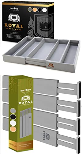 lowest Gray Expandable discount Drawer Organizer for Utensil and Drawer discount Dividers 22IN outlet online sale