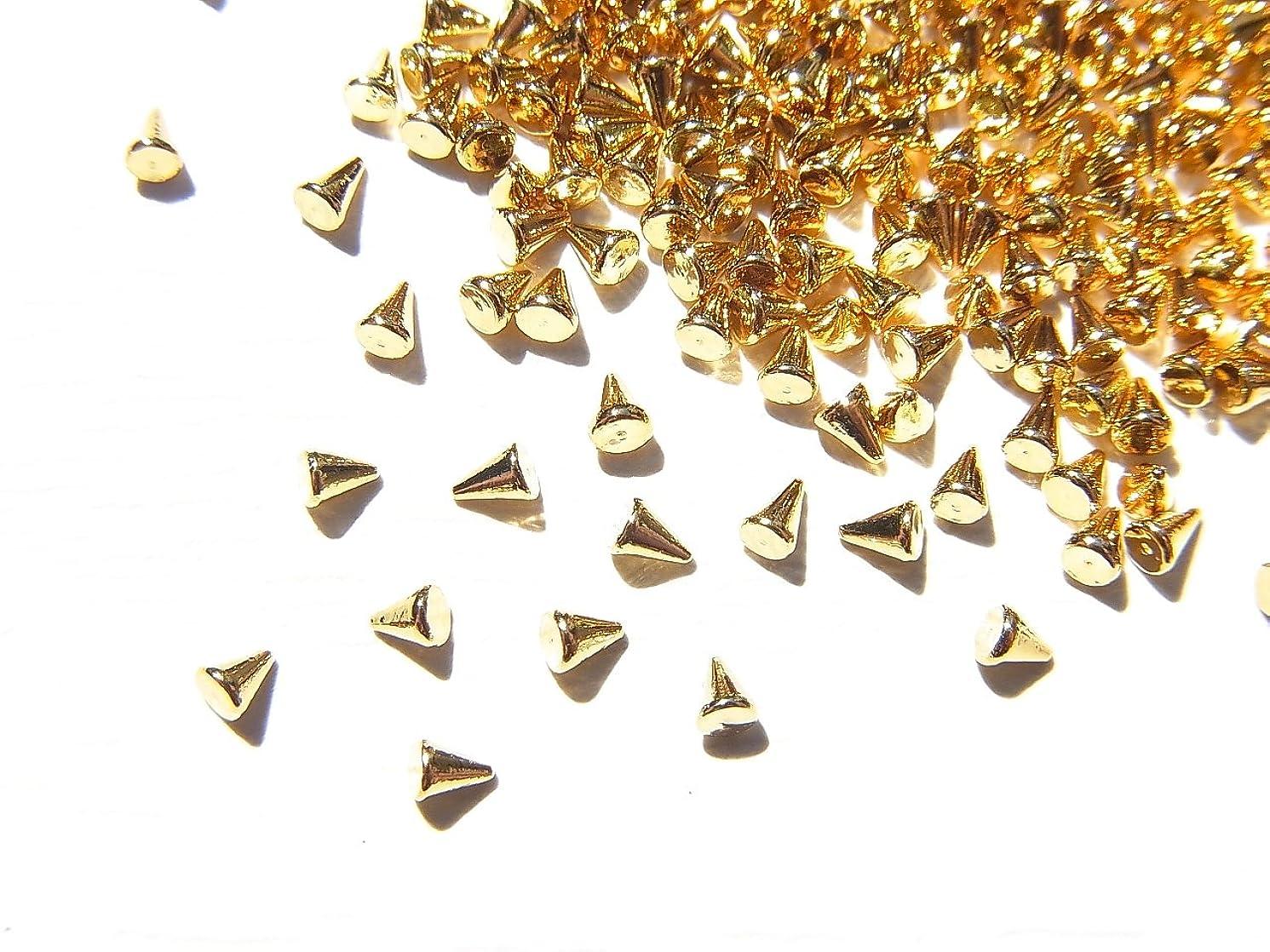 苛性激怒エレベーター【jewel】ゴールド メタルパーツ リベット (トゲトゲ) Sサイズ 10個入り 1.8mm×1.3mm 手芸 材料 レジン ネイルアート パーツ 素材