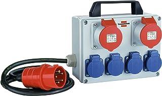 Kompakter Kleinstromverteiler BKV 2/4 T IP44 / Baustromverteiler mit Tragegriff ca. 2m Kabel, für ständigen Einsatz im Außenbereich IP44
